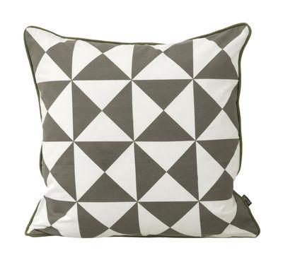 coussin large geometry coton 50 x 50 cm gris blanc. Black Bedroom Furniture Sets. Home Design Ideas