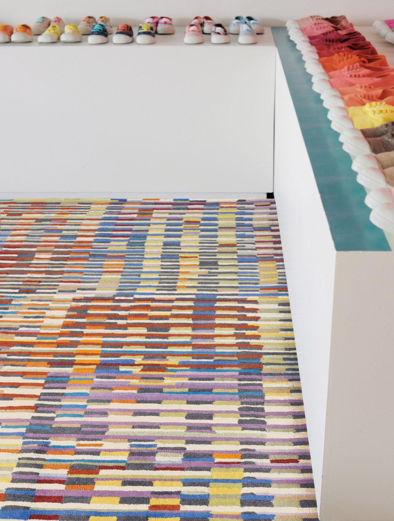Tapis Cinetic / 170 x 240 cm - Tufté main Multicolore - Toulemonde ...