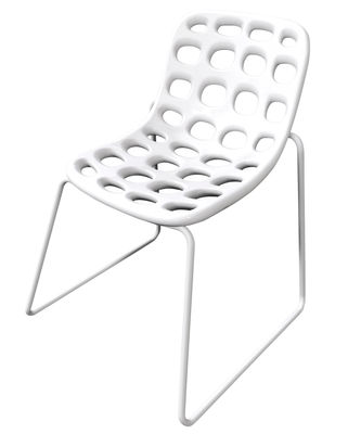 Furniture - Chairs and high armchairs - Chips Stacking chair - Plastic & metal legs by MyYour - White - Painted stainless steel, Polythene