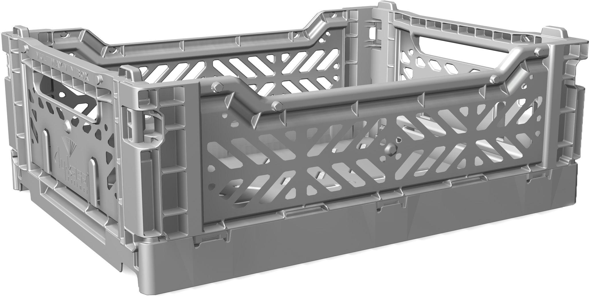 midi box storage rack foldable l 40 cm grey by surplus. Black Bedroom Furniture Sets. Home Design Ideas
