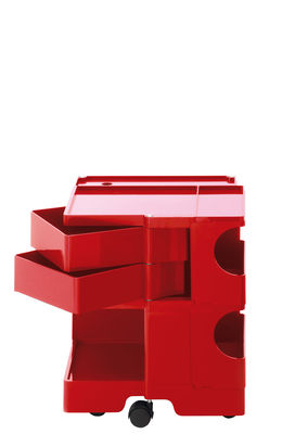 Desserte Boby / H 52 cm - 2 tiroirs - B-LINE rouge en matière plastique