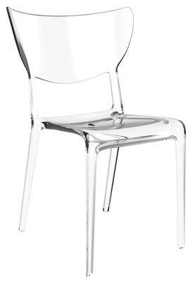Chaise empilable ema sao transparente polycarbonate chaise transparent tog made in design - Chaise salle a manger transparente ...