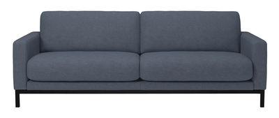 Divano destro North - / L 215 cm di Bolia - Blu,Nero - Tessuto
