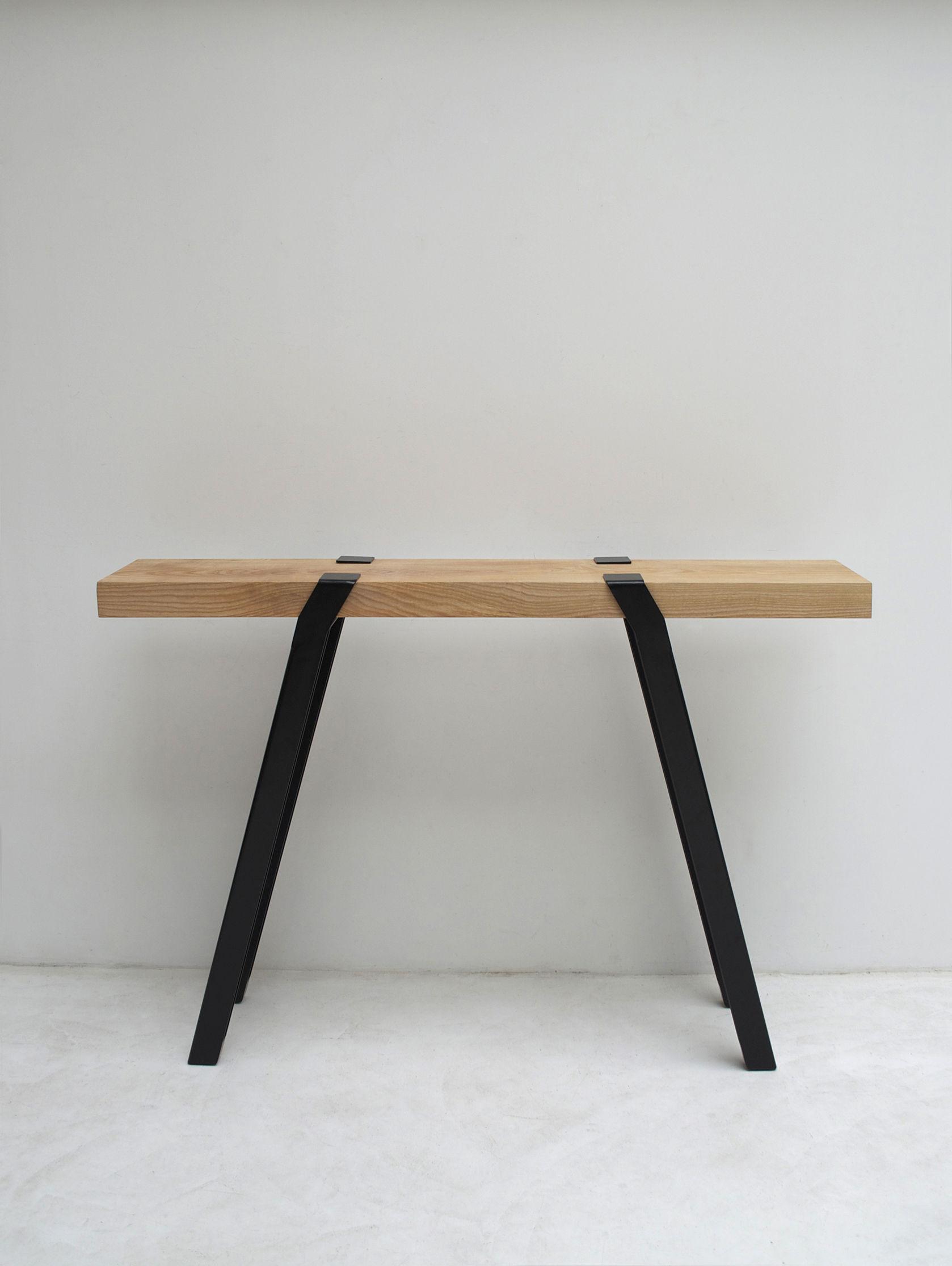 Scopri paire de tr teaux pi per costruire un tavolo h 100 cm nero di moaroom made in design - Costruire un tavolo richiudibile ...