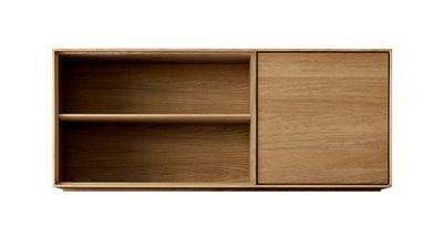 caisson empilable modulo interm diaire l 130 cm porte droite 2 tag res position. Black Bedroom Furniture Sets. Home Design Ideas