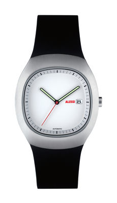Accessories - Watches - Ray Watch - Automatic by Alessi Watches - Brushed steel case / White mat dial - Polyurethane