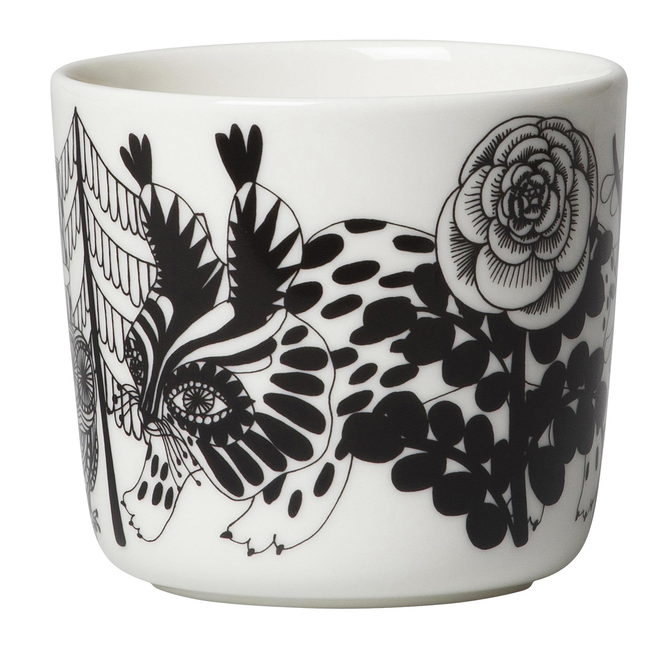 tasse caf veljekset sans anse set de 2 veljekset noir rouge marimekko. Black Bedroom Furniture Sets. Home Design Ideas