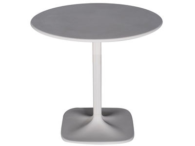 Jardin - Tables - Table de jardin Supernatural / Ø 73 cm - Moroso - Blanc - Fibre de verre, Polypropylène