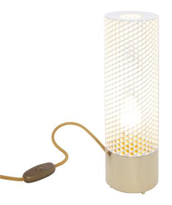 lampe de table sabine laiton h 33 cm blanc base laiton maison sarah lavoine. Black Bedroom Furniture Sets. Home Design Ideas