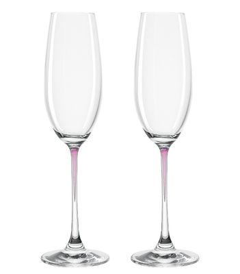 Flûte à champagne La Perla / Set de 2 - Leonardo violet en verre