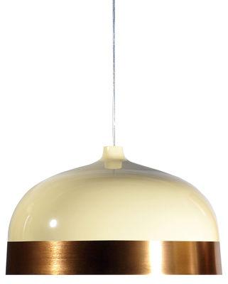 Luminaire - Suspensions - Suspension Glaze / Ø 56 x H 34 cm - Innermost - Crème / Cuivre - Aluminium