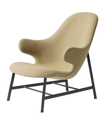 Catch Lounge Lounge Sessel / Kvadrat-Bezug & Stuhlbeine aus Stahl - &tradition - Schwarz,Senf