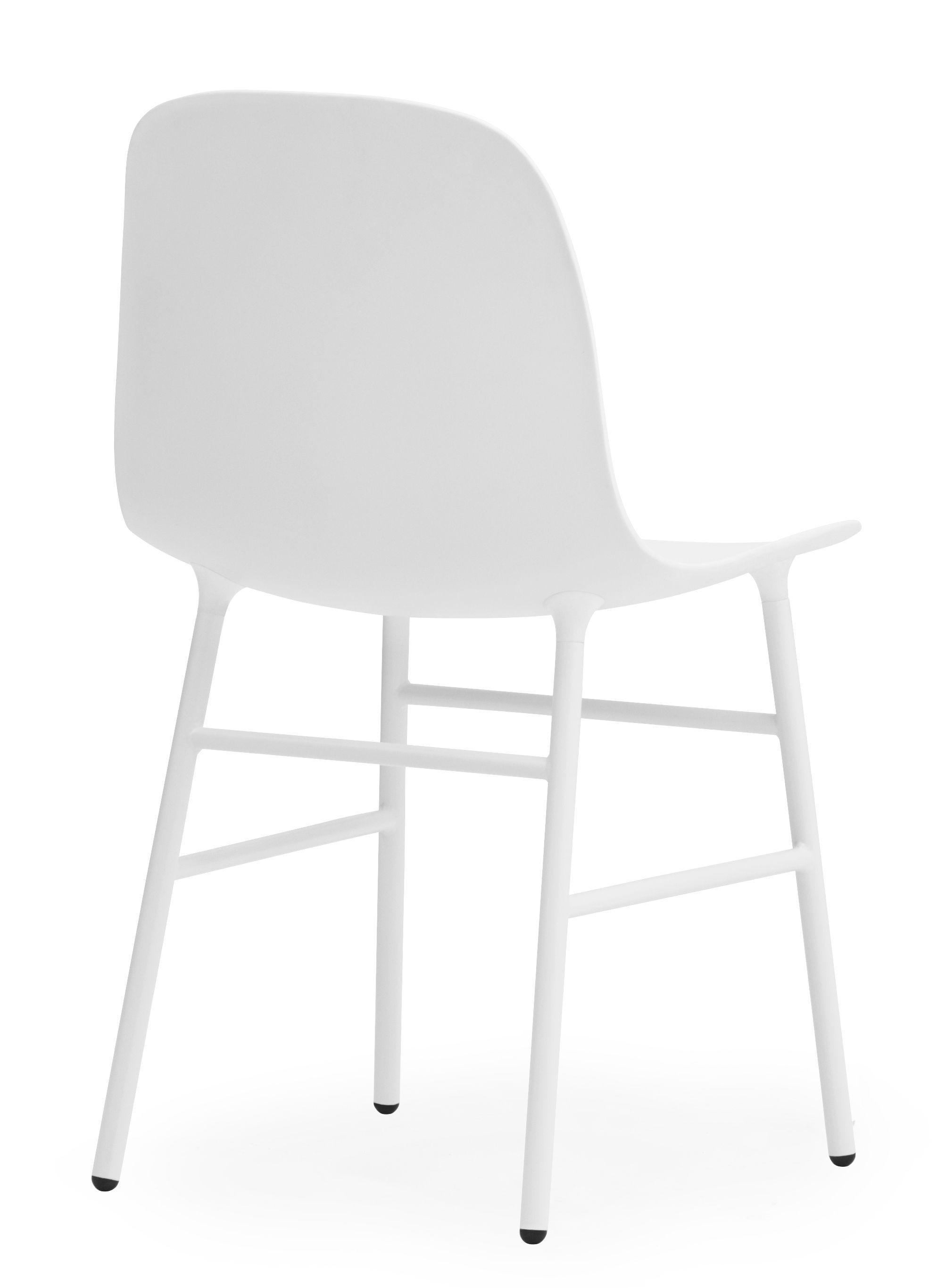 chaise form pied m tal blanc normann copenhagen. Black Bedroom Furniture Sets. Home Design Ideas