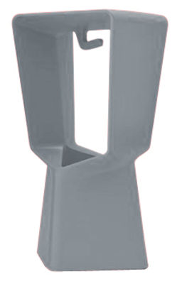 Foto Sgabello alto Kenny - Grigio antracite - Materiale plastico Qui est Paul ? Sgabello bar