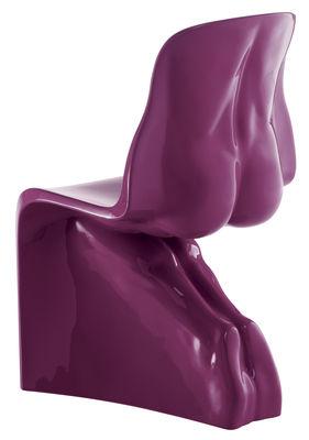 Chaise Him laquée/ Plastique - Casamania violet en matière plastique