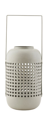Decoration - Candles & Candle Holders - Panel Lantern - Metal / H 20 cm by House Doctor - Grey - Iron