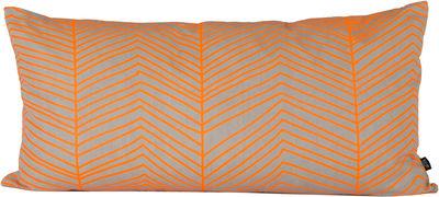 Déco - Coussins - Coussin Herringbone / Large 80x40 cm - Ferm Living - Orange, Gris - Coton