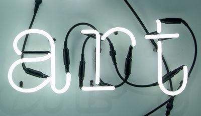 Neon Art Wandleuchte / ART - Komposition aus 3 Buchstaben - Seletti - Weiß