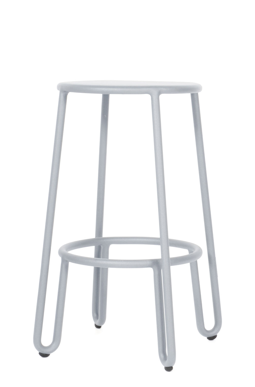 tabouret de bar huggy h 65 cm aluminium gris frosty maiori. Black Bedroom Furniture Sets. Home Design Ideas