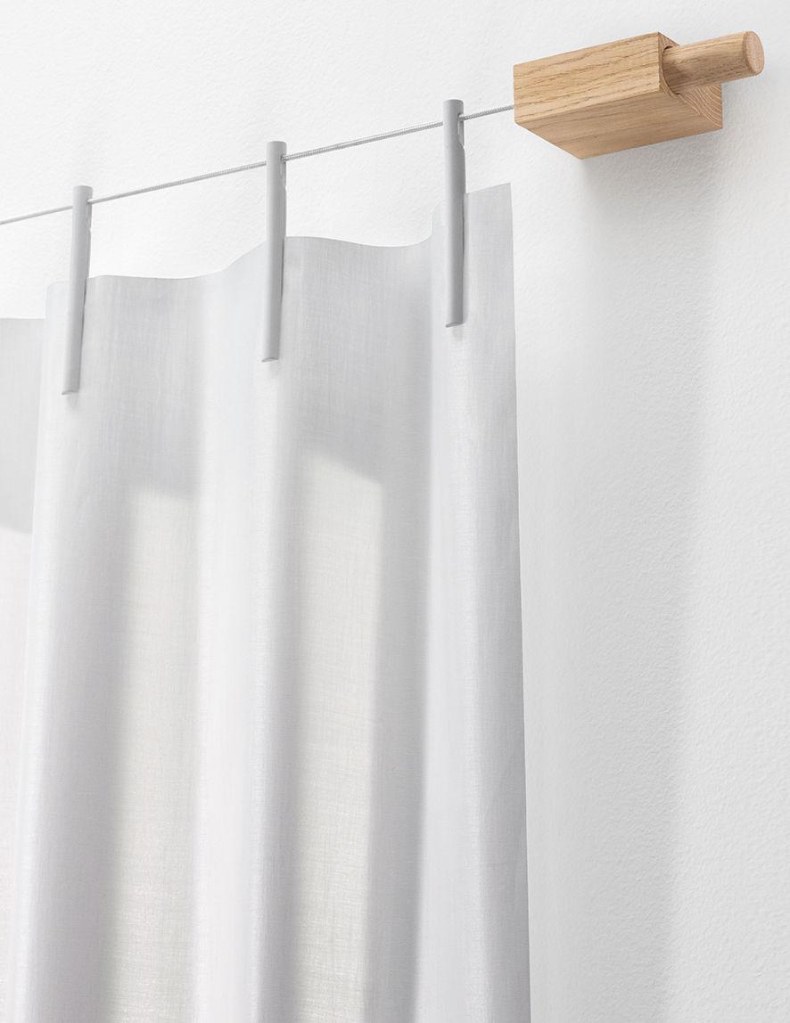 ready made kit vorhang montageset vliesstoff l 210 x h 300 cm wei by kvadrat made. Black Bedroom Furniture Sets. Home Design Ideas