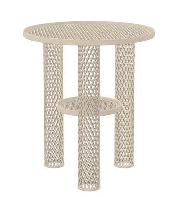 Mobilier - Tables basses - Table basse Net / Résille d'acier - Ø 40 x H 46 cm - Moroso - Blanc - Acier verni