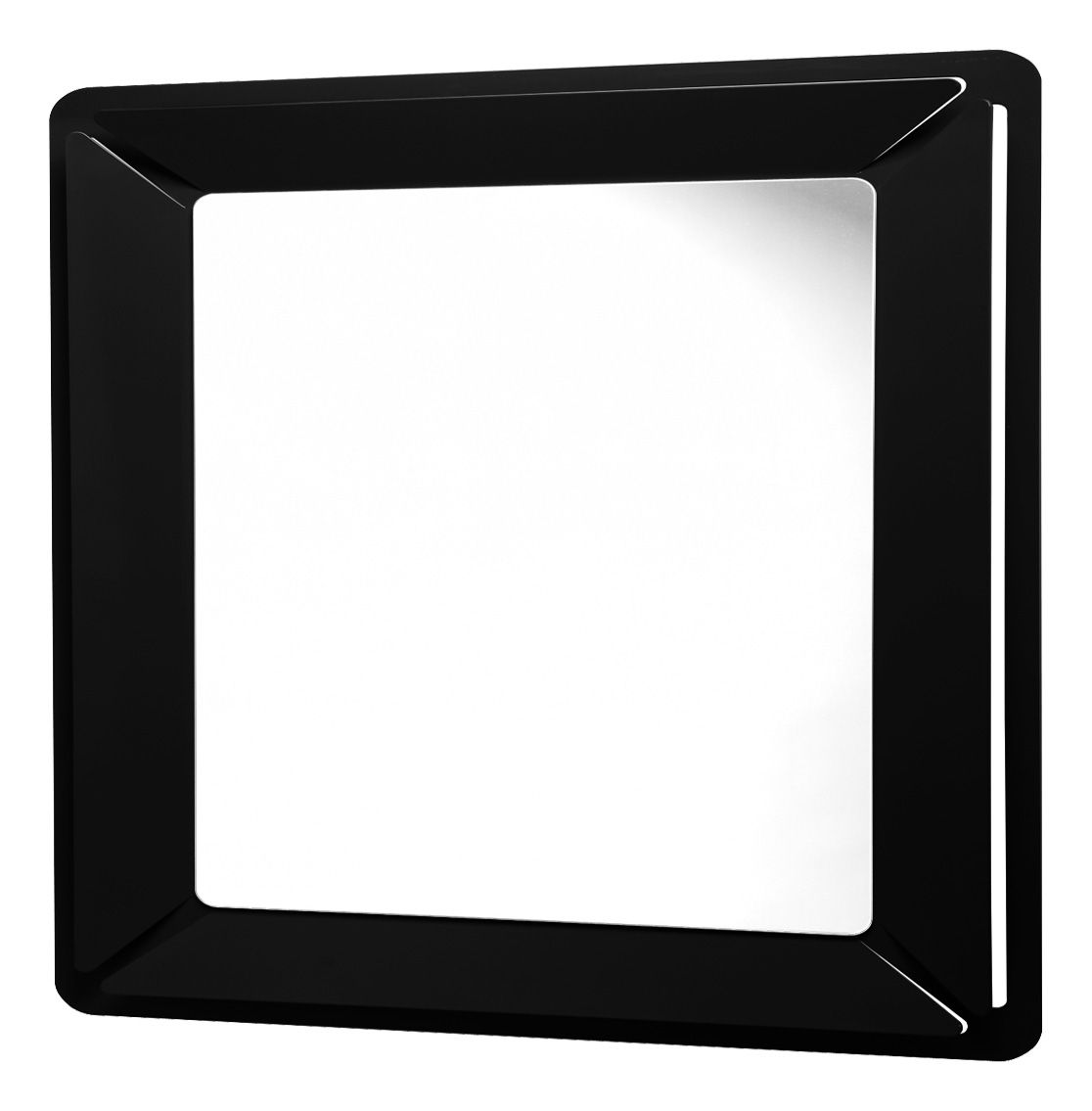Miroir see me square 90 x 90 cm noir officina nove for Miroir noir dvd