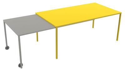 Table à rallonge Rafale XL / L 180 à 320 cm - Matière Grise jaune,taupe en métal