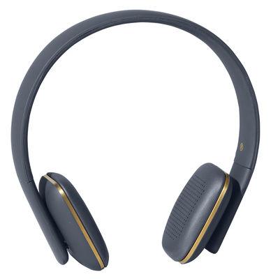 Casque Bluetooth A.HEAD Bluetooth Kreafunk bleu,or en cuir