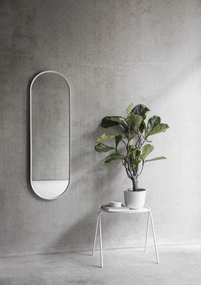Miroir mural norm h 129 cm m tal blanc menu for Miroir mural metal