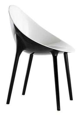 Möbel - Stühle  - Super Impossible Sessel Zweifarbige Ausführung - Kartell - Schwarz / innen weiß - Polykarbonat