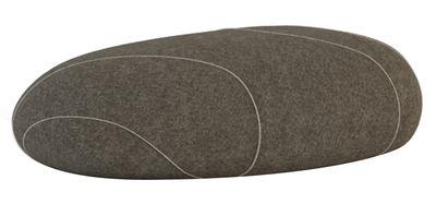 Foto Cuscino da pavimento Marc Livingstones - Versione in lana da interno di Smarin - Marrone chiaro - Tessuto