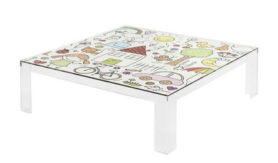 Tavolo bimbi Invisible Kids - / Top decorato di Kartell - Multicolore,Trasparente - Materiale plastico
