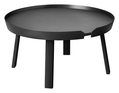 Table basse Around Large / Ø 72 x H 37,5 cm - Muuto noir en bois