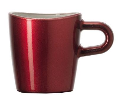 Tasse à espresso Loop / H 6 cm - Leonardo rouge métallisé en verre
