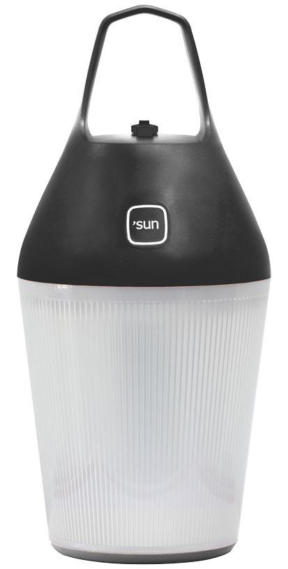 lampe solaire nomad sans fil recharge secteur ou solaire noir o 39 sun. Black Bedroom Furniture Sets. Home Design Ideas