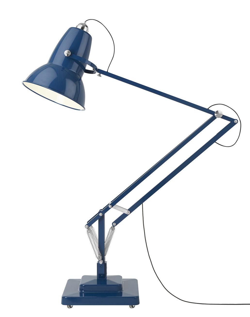 Lampadaire original 1227 giant outdoor h 270 cm bleu marine anglepoise - Luminaire industriel la giant collection par anglepoise ...