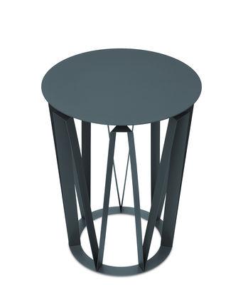 Arlette End table - / Ø 37 x H 48 cm - Metal Granite by Presse ...