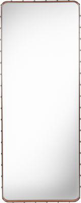 Déco - Miroirs - Miroir mural Adnet / 180 x 70 cm - Réédition 50' - Gubi - Cuir naturel - Cuir, Laiton