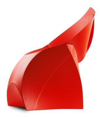 Fauteuil pliant flux chair polypropyl ne rouge flux for Chaise de salle a manger trackid sp 006