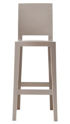 Chaise de bar One more please / H 75cm - Plastique - Kartell sable en matière plastique