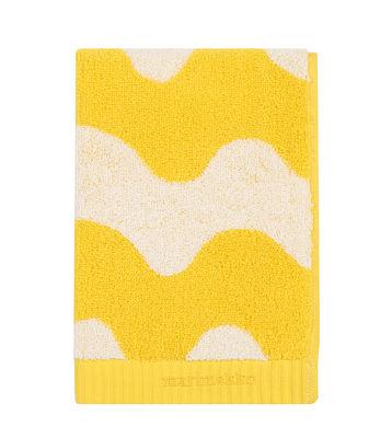 Drap de bain Lokki / 70 x 150 cm - Marimekko blanc,jaune en tissu