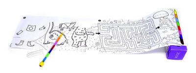 Déco - Pour les enfants - Set Pocket Games Magic / 1 m de jeux & coloriage + Crayon 8 mines - OMY Design & Play - Magic / Noir & Blanc - Papier