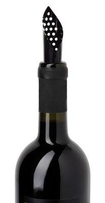 Arts de la table - Bar, vin, apéritif - Bec-verseur / Lot de 5 aérateurs souples - L'Atelier du Vin - Noir - Plastique