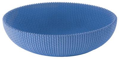 Arts de la table - Corbeilles, centres de table - Corbeille La Trama e l'Ordito / Ciment - 40 x 30 cm - Alessi - Bleu - Ciment