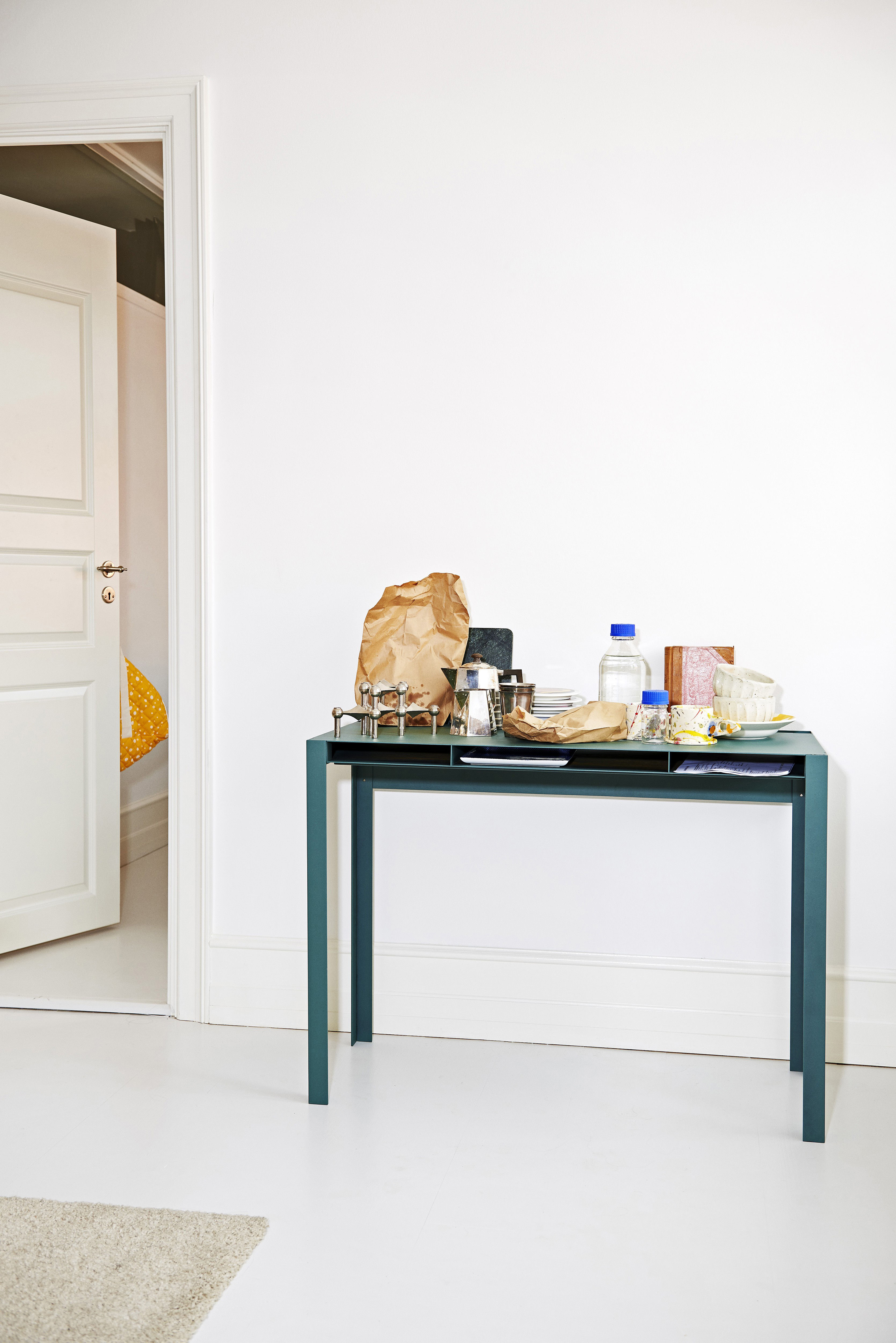 console index bureau m tal l 100 cm vert sapin nomess. Black Bedroom Furniture Sets. Home Design Ideas