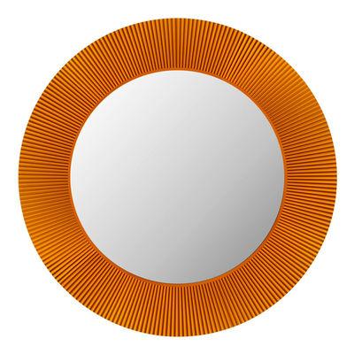 Foto Specchio luminoso All Saints - LED / Ø 78 cm di Kartell - Ambra - Materiale plastico