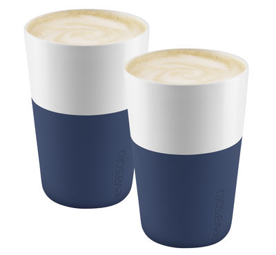 Mug Cafe Latte / Set de 2 - 360 ml - Eva Solo bleu navy en céramique