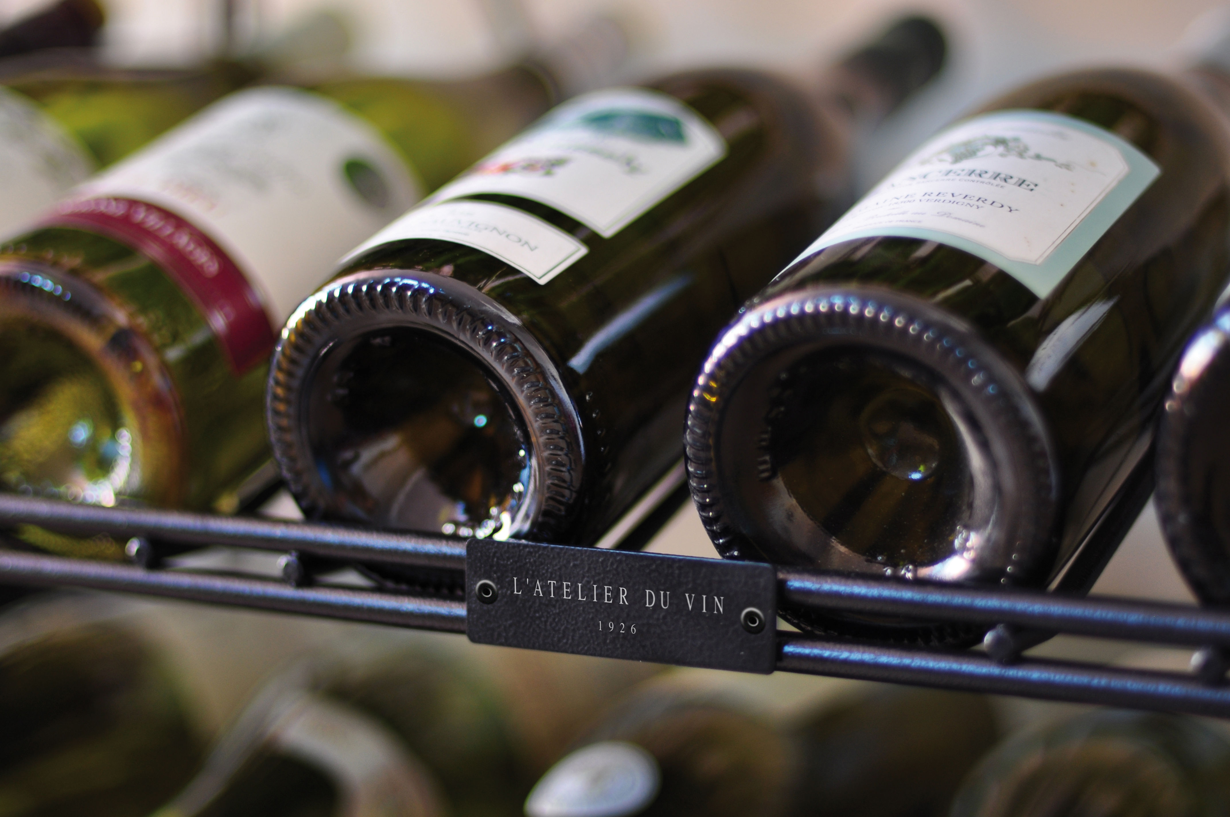 Smart Wine cellar - Base unit Wood / black by L\'Atelier du Vin