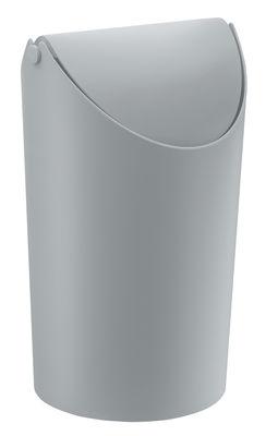 Poubelle Jim / H 31,5 cm - 9 Litres - Koziol gris opaque en matière plastique