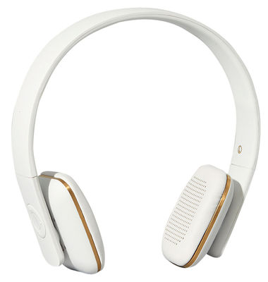 Casque audio sans fil A.HEAD Bluetooth Kreafunk blanc,or en cuir